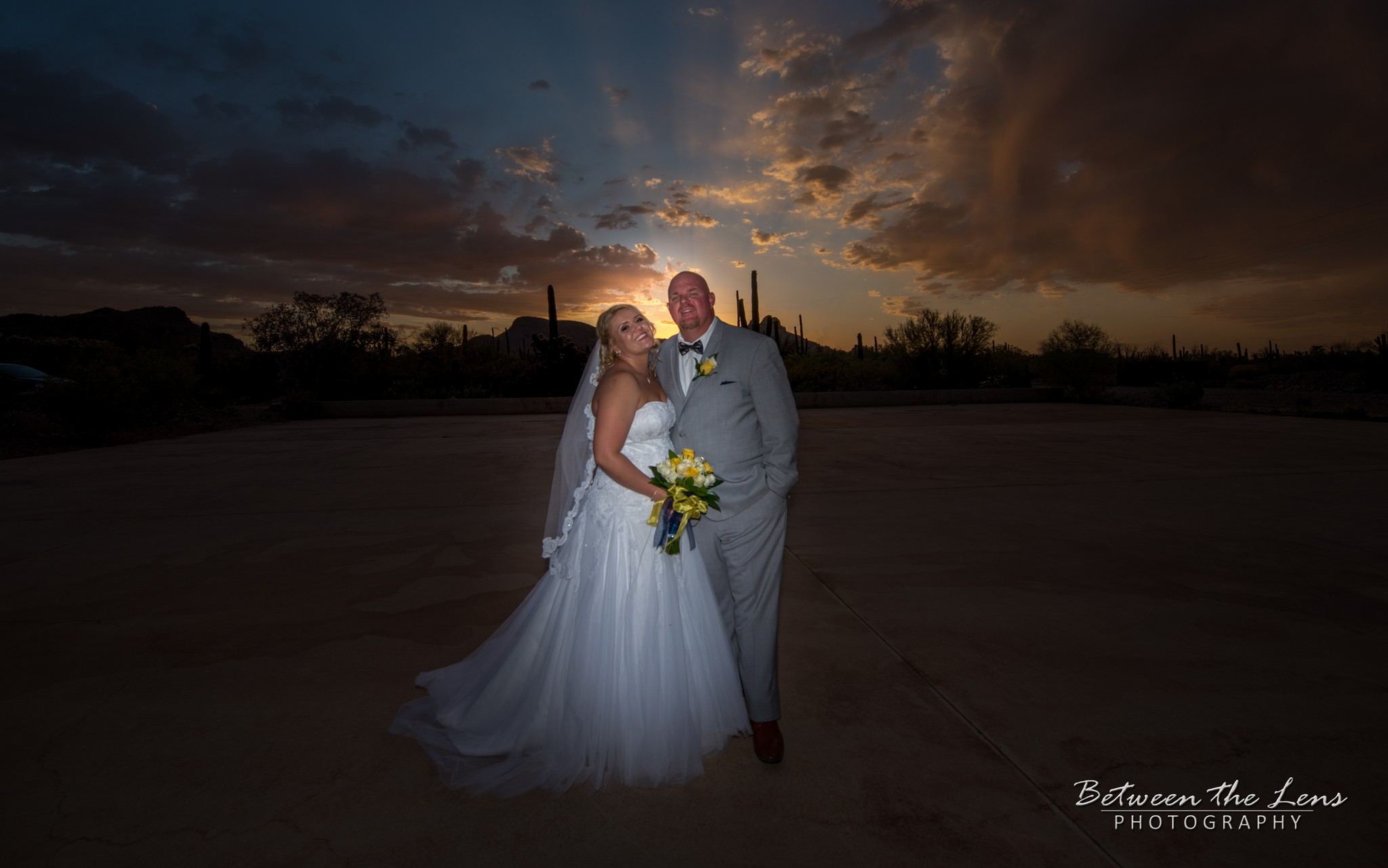 Couple During a Desert Sunset